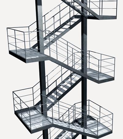 Precio en colombia de ud de escalera de emergencia for Calculo escalera metalica